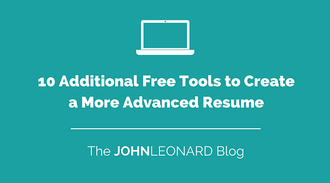 10 Additional Free Tools to Create a More Advanced Resume-1