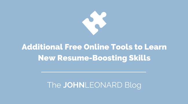 Additional Free Online Tools to Learn New Resume-Boosting Skills