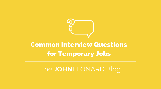 Common Interview Questions for Temporary Jobs