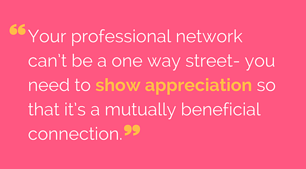Give Back to Network Quote