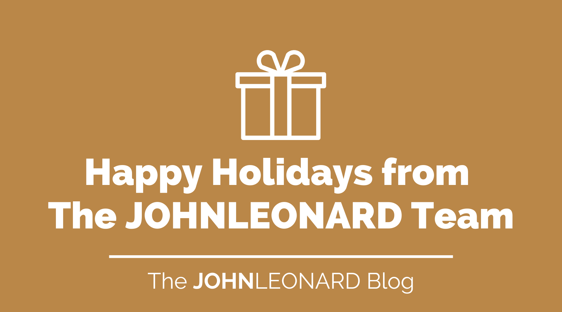Happy Holidays from  The JOHNLEONARD Team (video)
