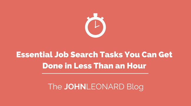 Job Search Tasks You Can Get Done in Less Than an Hour