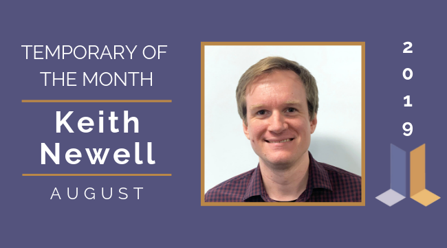 Keith Newell - August 2019