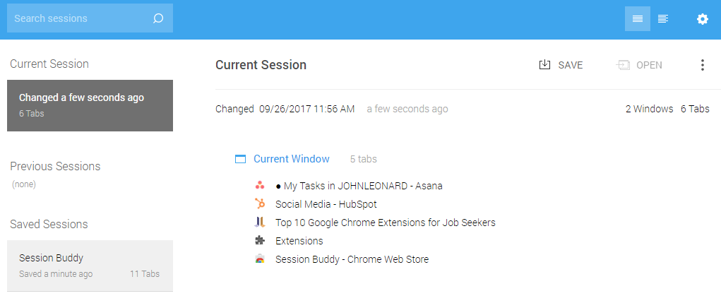 More Chrome Extensions #9 Session Buddy.png