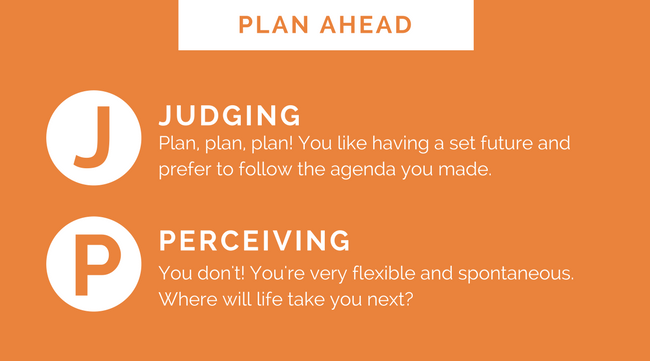 Personality Types-Plan Ahead