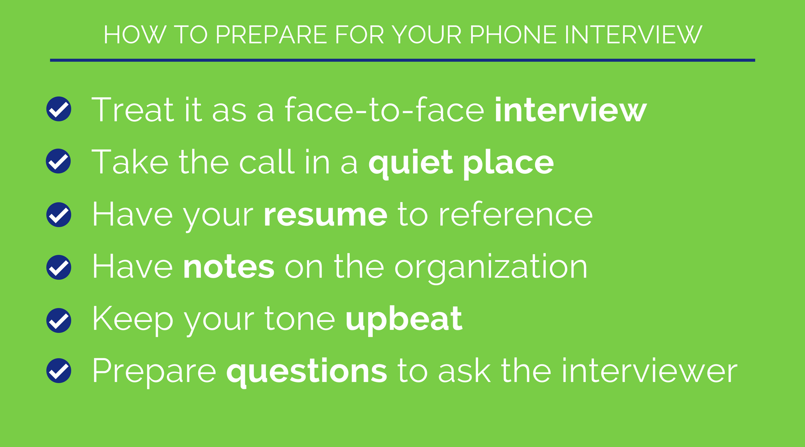 good answers phone interview questions