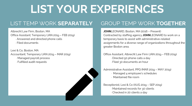 Properly List Temporary Work on Your Resume (1)