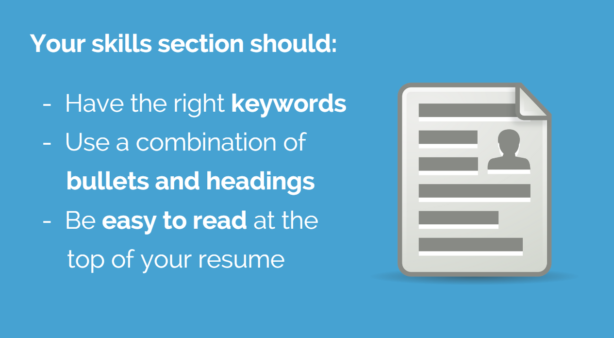 why you need a skills section on your resume and how to make one