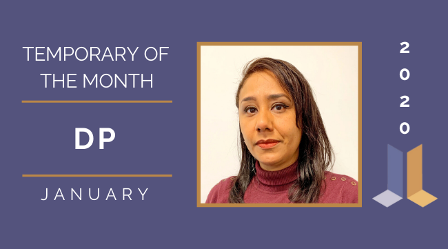 Temp of the Month- January 2020