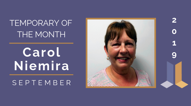 Temp of the Month- September 2019