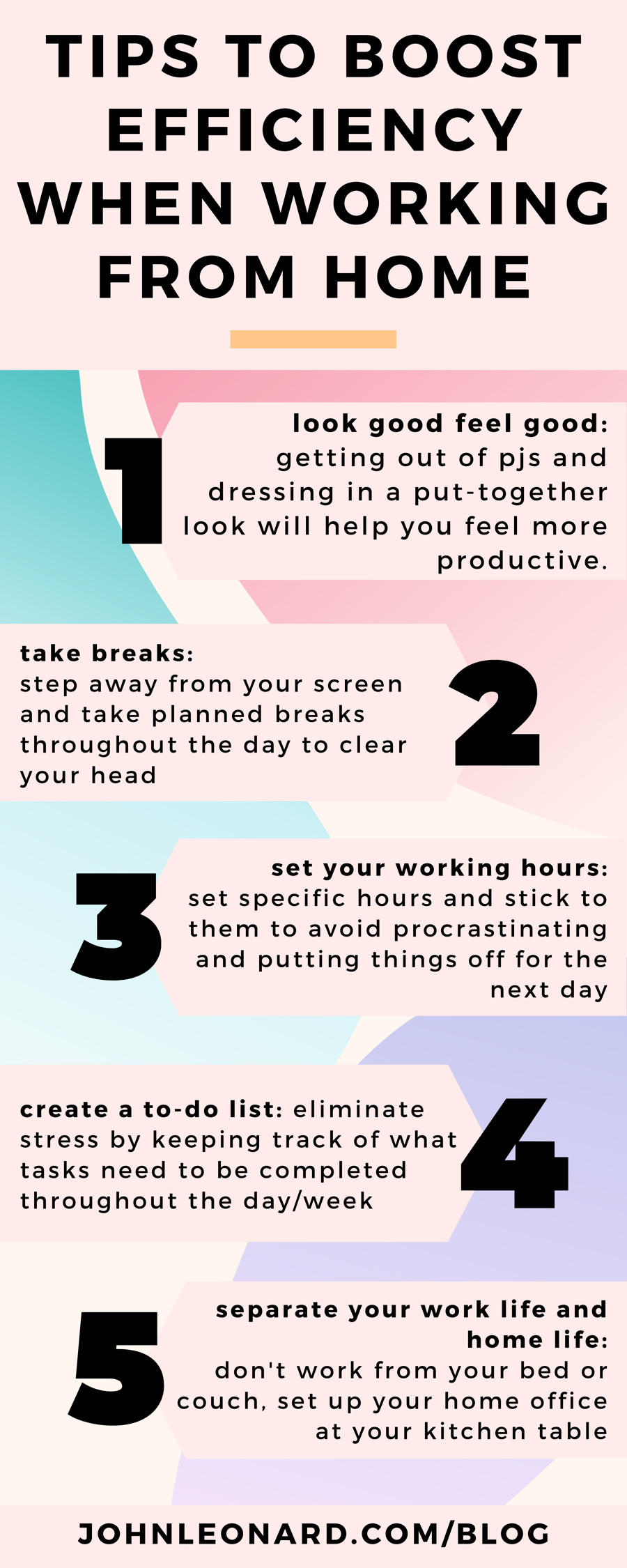 Tips to Boost Your Efficiency When Working From Home