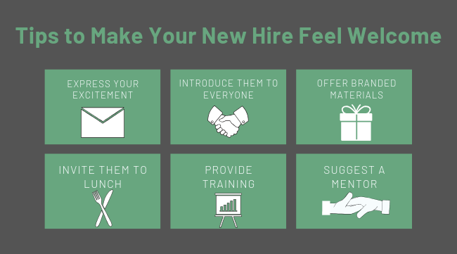 Tips to Make Your New Hire Feel Welcome (1)