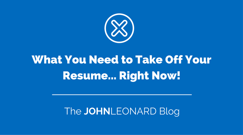 what you need to take your resume right now