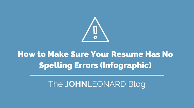how to make sure your resume has no spelling errors  infographic